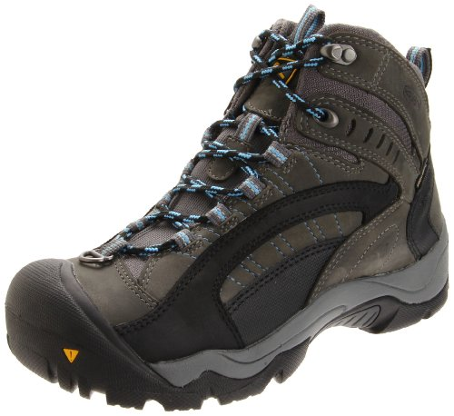 Keen Women's Revel Waterproof Boot,Gargoyle/Azure Blue,7 M US
