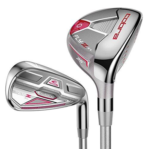 Cobra Damen fly-z XL Hybrid und Bügeleisen Golf Club Combo Set, 4-5Hybrid und 6SW-Eisen (8Clubs, 2Hybriden 6Bügeleisen) Damen Graphit Schaft rechts Rechtshänder