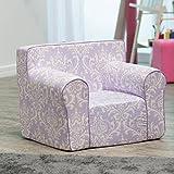 Kids Sofa Chair Purple Damask
