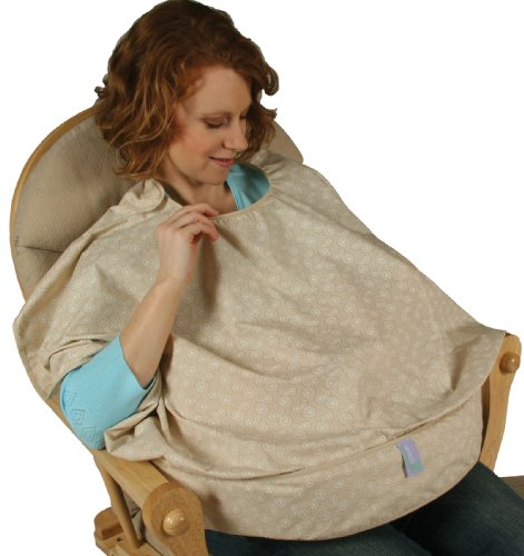 Leachco Mother Cover Nursing Pillow With Cover-Up, Beige/White - 1