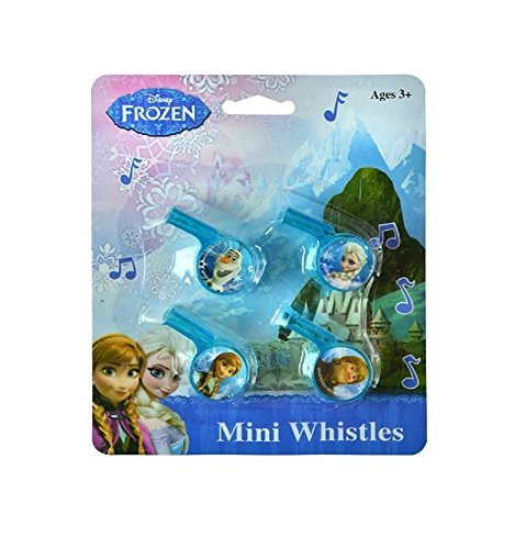 Disney Frozen Princess Mini Whistles (4 ct) ~ Elsa Anna Olaf Kristoff Party Favors