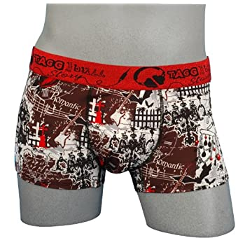 pas cher tagg and bull story boxer homme 39 romantic 39 taille xl couleur rouge vetement. Black Bedroom Furniture Sets. Home Design Ideas