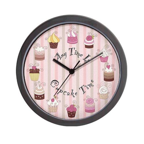 Brown Cupcake Wall Clock