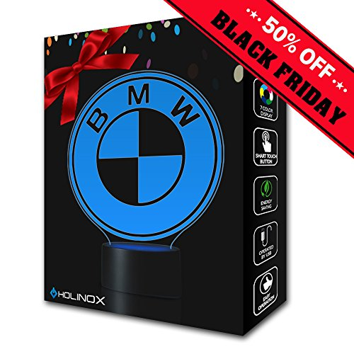 BMW Lighting Decor Gadget Lamp Awesome Gift + FREE 2 BONUSES, Sticker Decor + MULTI PURPOSE CREDIT CARD = Best Set (MT032) By Holinox (High Powered Car Alternator compare prices)