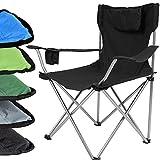Miadomodo - Chaise de camping/pêche pliante - avec appui-tête,