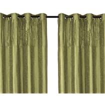 Vision shimmering window panels in lime-green (set of 2)