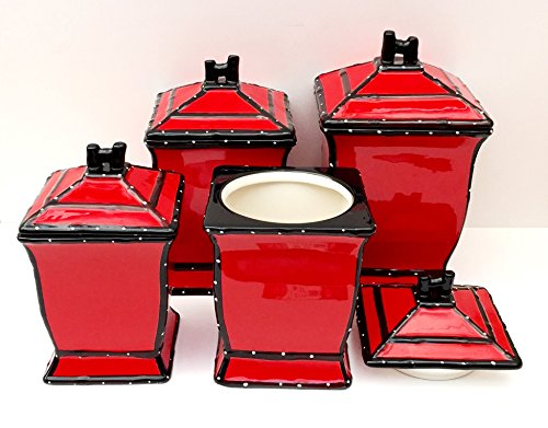 Tuscany Red 4pcs Canister Set