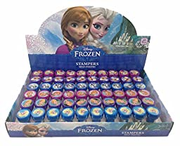 12 Pieces Disney Frozen Anna Elsa Olaf Stampers Self-Inking Birthday Party Favors