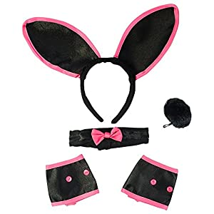 Sexy Bunny Costume Set - Bunny Ears Collar Cuffs & Tail For Adults Funny Party Hats®