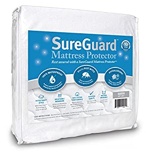 Amazon Com Queen Size Sureguard Mattress Protector 100
