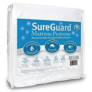 Amazon Queen Size SureGuard Mattress Protector 100%