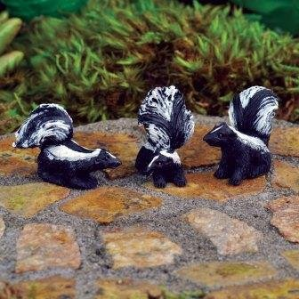 The Fiddlehead Fairy Garden Miniature Skunks (Set of 3)