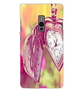 ONE PLUS TWO HEART CLOCK Back Cover by PRINTSWAG