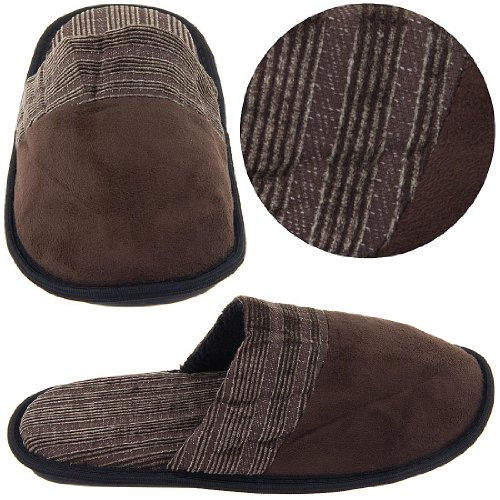 Image of Brown Slip On Slippers for Men (B004UNEEW8)
