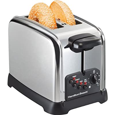Classic Chrome 2-Slice Extra-Wide Slot Toaster by Hamilton Beach