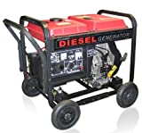 ETQ DG4LE 4,900 Watt 8 HP 296cc Diesel Powered Portable Generator With Electric Start