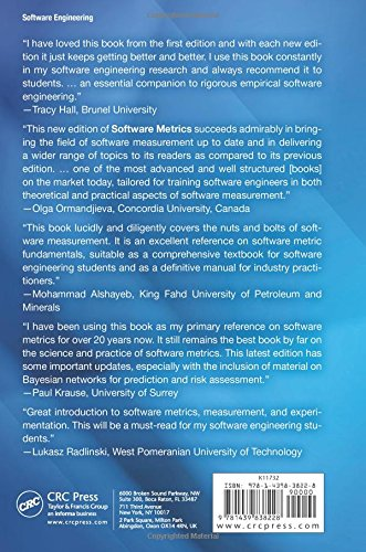 Software Metrics: A Rigorous and Practical Approach, Third Edition (Chapman & Hall/CRC Innovations in Software Engineering and Software Development Series)