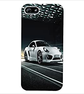 ColourCraft Car Back Case Cover for APPLE IPHONE 5