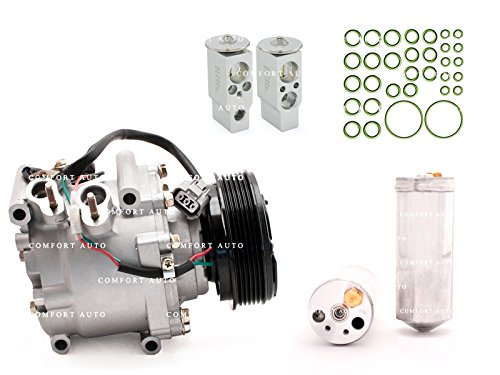 2002 Honda Civic 4 dr sedan / 2003 2004 2005 Honda Civic 1.7L New AC Compressor, Drier, Expansion valve and oring kit 1 Year Warranty (02 Sensor Conector compare prices)
