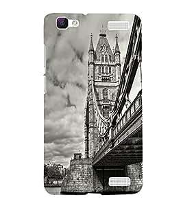 Printvisa London Bridge In Vintage Background Back Case Cover for vivo V1 Max