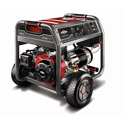 Briggs & Stratton 30470 7000-Watt Gas Powered Portable Generator With 2100 Series 420Cc Engine And Key Electric Start, Engine Oil Included