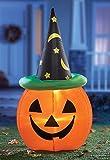 Lighted Inflatable Pumpkin Head Halloween Yard Decoration
