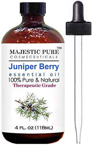 Juniper Essential Oil From Majestic Pure, Extracted From Berry, Therapeutic Grade, Pure and Natural, 4 fl. oz