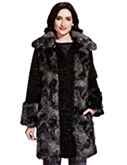 Per Una Faux Fur Trim Coat