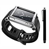 Silver Cool Aluminum Bracelet Watch Band Wrist Band for iPod Nano 6 Cover Case