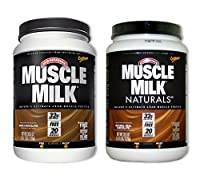 MuscleMilk Dark Choc 2.47 Pound/Naturals Real Choc 2.47 Pound (1 of each) from CytoSport Muscle Milk