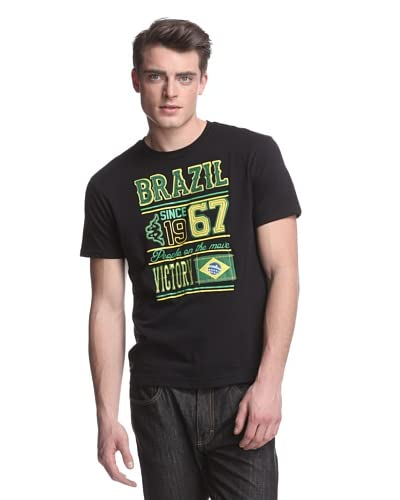 Kappa Men's Brazil Felt Applique Mondo Tee