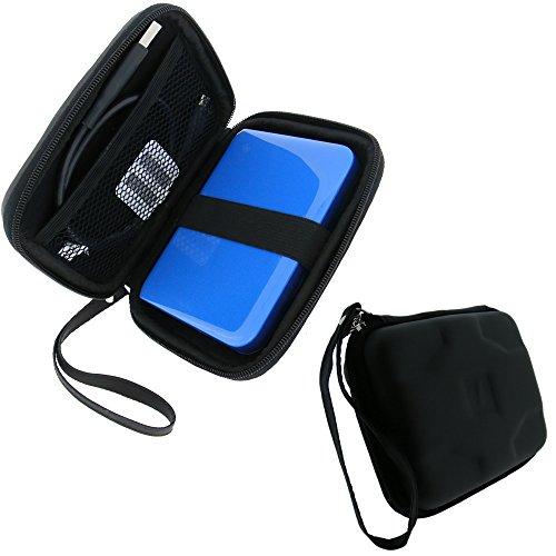 igadgitz Schwarz EVA Hart Tasche Schutzhülle für Toshiba Canvio Slim, Slim for Mac, Connect, Connect II & Alu 500GB 1TB 2TB 3TB Tragbare Externe Festplatte Etui Case Cover