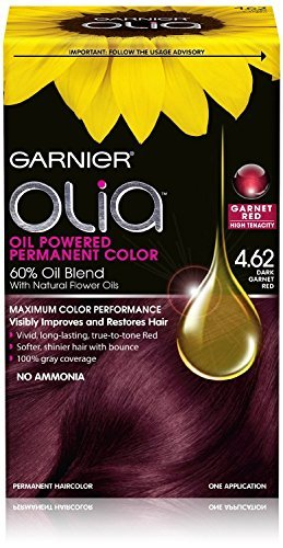 Garnier Olia Oil Powered Permanent Haircolor, 4.62 Dark Garnet Red (Pack of 2)