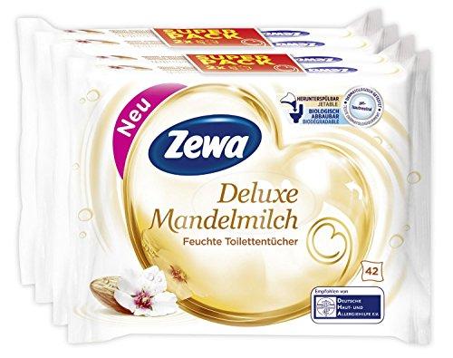 Mandelmilch Zewa Deluxe Set di 2 confezioni da 84 salviette igienica bagnata con latte di mandorla