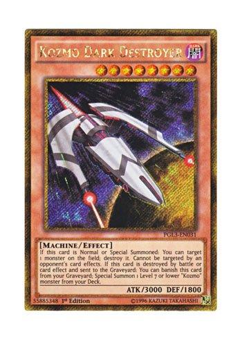 遊戯王 英語版 PGL3-EN031 Kozmo Dark Destroyer (ゴールドシークレットレア) 1st Edition