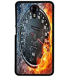 ColourCraft Water and Fire Speed Meter Design Back Case Cover for MICROMAX CANVAS XPRESS 2 E313