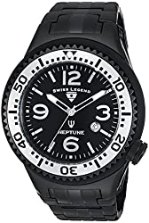 Swiss Legend Men's 21819P-BB-11-SB Neptune Force Black Ion-Plated Stainless Steel Watch