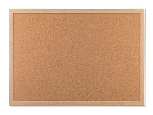 U Brands Cork Bulletin Board, 23 x 17 Inches, Light Birch Wood Frame (Wood Board compare prices)