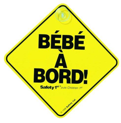 Panneau Bebe a Bord ! SAFETY FIRST, jaune