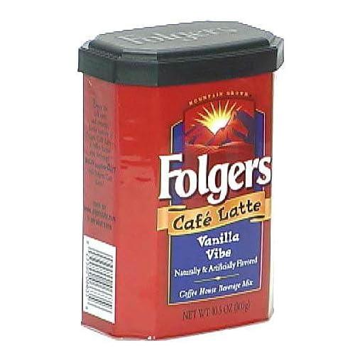 Amazon.com : Folgers Cafe Latte Vanilla Vibe Beverage Mix, 10.5-Ounce
