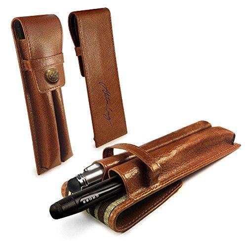 alston-craig-cuir-vintage-executive-double-pen-titulaire-brun-compatible-avec-montblanc-shaeffer-cro