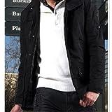 Fashion collier de stand multi-poches hommes manteau d'hiver chaud