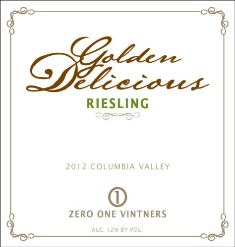"2012 Zero One Vintners ""Golden Delicious"" Columbia Valley Riesling 750 Ml"