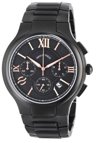 Philip-Stein-Mens-45B-CRBKRG-SSBP-Stainless-Steel-Watch
