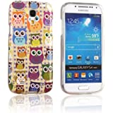 tinxi® Schutzhülle für Samsung Galaxy S4 Mini Hülle TPU Silikon Rückschale Schutz Hülle Silicon Case viele bunte Eulen Owls