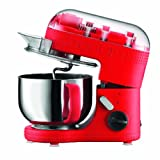 BODUM 11381-294US Bistro Electric Stand Mixer, 4.7-Liter, Red