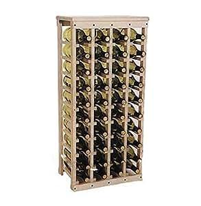 "40 bottle Wooden Wine Rack (Unfinished Pine)(38""h X 17""w X 10.5""d)"