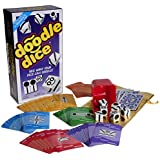 Doodle Dice Game from Jaxs _ Bonus Gold Metallic Cloth Drawstring Pouch