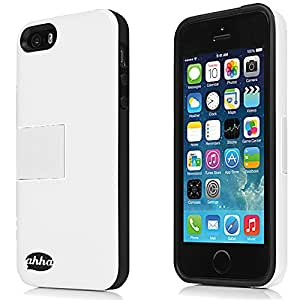 Ahha Archer Kickstand Back Case Cover for Apple iPhone 5S / 5 - White (A-KCIH5-0A22)