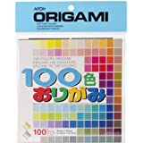Aitoh Origami Paper, 5.875 by 5.875-Inch, 100 Colors, 100-Pack